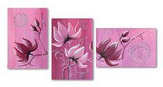 Schilderij Magnolias in Violet and Rose House Design, Rose, Painting, Magnolias, Diamond, Google, Big Flowers, Paintings Of Flowers, Magnolia Trees