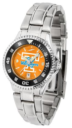 Tennessee Lady Volunteers Ladies Competitor Steel Watch With AnoChome Dial, Color Bezel