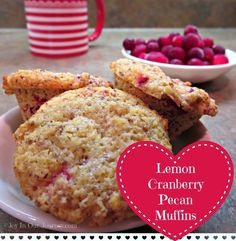 Lemon Cranberry Pecan Muffins (low carb, no sugar) - Joy In Our Journey.com - My Blog!