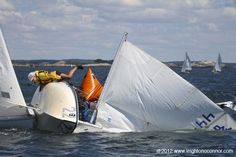 Sailing Photos & Videos by Leighton O'Connor: A little crash on the 420 Line during Jr. Race Week in Marblehead.