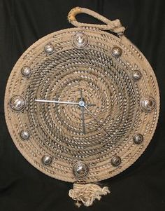 rope clock | Cute Clock Made With Lariat Rope Western