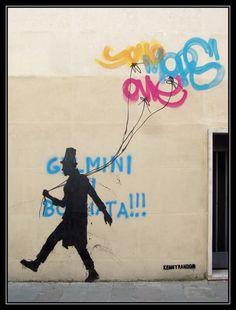 street art wizard by Kenny Random urban art in Padua Venice Italy