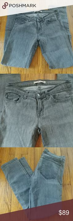 J Brand 914 Cigarette Jeans - gray J Brand 914 Cigarette Jeans in gray wash finish.  Slim, straight leg, traditional 5-pocket styling.  In excellent used condition (no rips, tears, or stains.) J Brand Jeans Skinny