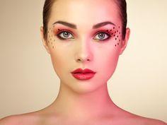 Beautiful woman face - Beautiful woman face. Perfect makeup. Beauty fashion. Eyelashes. Lips. Cosmetic Eyeshadow. Perfect skin