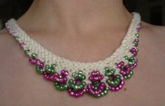 crochet necklace pattern | ... it, just in case you want to try it and you have the pattern book