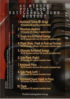 20 Min. Full Body Kettlebell Core Workout. - The Investigator Blog