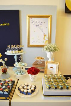 Little Prince. They nailed the classic elegance of a themed baby shower/birthday party.