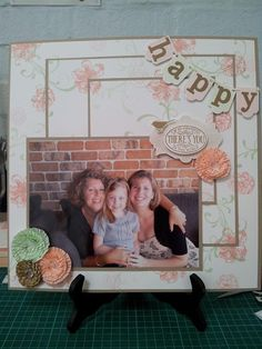 Chlo's Craft Closet - Stampin' Up Demonstrator: Triple Time Happiness. Scrapbook Pages/Layout