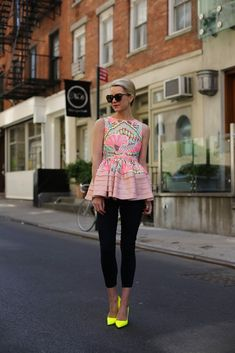 Peplum and Neon