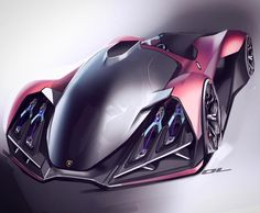 Did a front view for the #LamboChallenge ... so basically it has laser headlights that fire into scattering pods that project the laser radiation onto strips of phosphor to create the headlights because I'm 9 years old and I think lamborghinis are about fighter jets and laser beams. #design101trends #cardesignpro #lambochallenge #cardesign #carbodydesign #sketchbook #cardesignsketch #idrawcars #conceptcardesign #carbodysketch #sketchpractice