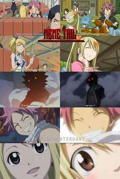 Natsu x Lucy antes e depois