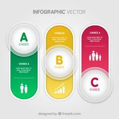 Colorful buttons infographic Free Vector