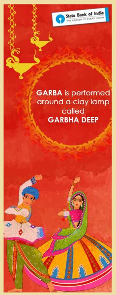 Gujarat is the birthplace of Garba. The dance is performed in circles with clay lantern in the centre symbolizing the unchanging form of God in a constantly changing universe. #Navratri2016 #SBIFestiveFervour #Dandiya #Garba #GarbaDance #GarbaInGujarat #NavratriColours #ColourDay3 #NavratriFacts