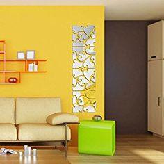 Ikevan 1Set 32pcs DIY 3D Acrylic Art Mirror Fashion Decal Mural Wall Sticker Home Decor Removable Wall Poster 20X80cm - - Amazon.com