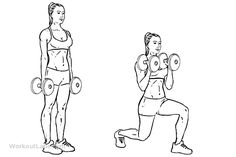 Lunging / Lunge with Bicep Hammer Curls