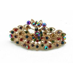 Luxury rhinestone peacock hair accessories hair pin -- Continue to the product at the image link. (This is an affiliate link and I receive a commission for the sales) Peacock Hair, Hair Pins, Image Link, Hair Accessories, Brooch, Luxury, Detail, Jewelry, Fashion