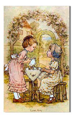 sarah kay Holly Hobbie, Vintage Pictures, Cute Pictures, Australian Artists, Cartoon Kids, Cute Illustration, Vintage Children, Zentangle, Illustrators