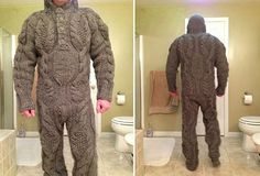 Full body knitted suit for those harsh winter mornings... niiiiiice...