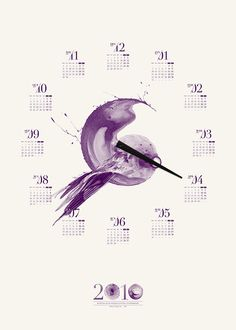 2010 Toben Poster Calendar by Toben , via Behance