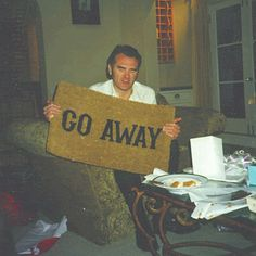 Morrissey's new 'Go Away' doormat