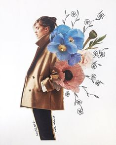 Muse No. 2 flower collage by kate rabbit