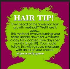 Hair tips - not sure if it works but I'm going to try it