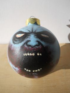 Zombie Walking Dead Style Painted Ornament Halloween Party. $28.00, via Etsy.
