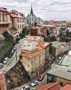 Valparaíso, Chile~ Look at the street behind the building in the forefront. It is a huge hill. Places To Travel, Places To Visit, Travel Destinations, Peru Travel, South America Travel, Adventure Travel, Around The Worlds, Vacation, Koh Tao