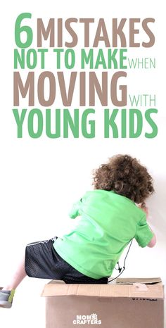 Moving with kids? , Moving with young kids? Just kidding - just don't make these 6 mistakes and you'll be good to go. Moving tips for moving with toddlers and babies. Moving Home, Moving Day, Moving Tips, Parenting Articles, Good Parenting, Parenting Hacks, Moving Across Country, Moving To Texas, Kids Moves