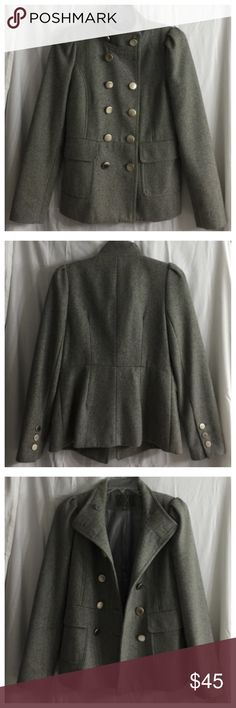 Forever 21 Peacoat - size small Forever 21 Peacoat/military coat size small. Only worn once! I'm only selling because I have too many coats and need to downsize. Awesome coat that goes with everything! Forever 21 Jackets & Coats