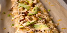 California Chicken Flatbread- Chow down on the holy trinity: Chicken, bacon and ranch.
