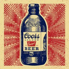 Excited to finally share the work with did with Y&R for Coors Banquet! This bottle illustration is part of a series of billboards and print ads. Updating our site all this week. #coors #stubbybottle #illustration #texture #design
