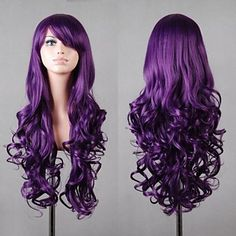 Charlotte Tomori Nao 70cm Long Curly Wavy Cosplay Wig For Women Female High Quality Heat Resistant Synthetic Hair Purple Anime Women's Costumes