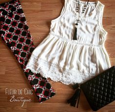 Dress up your style with this look! Shop online now with Fleur de Chic boutique