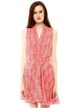 Sleeveless Swing Tie Front Dress.
