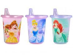 Kit com 3 Copos Disney Princesas 296ml - The First Years