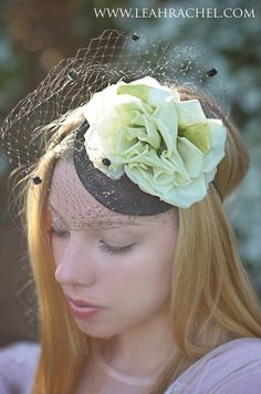 d9e40bda8dc Romantic Pale Green Floral Fascinator Hat by by RubyandCordelias