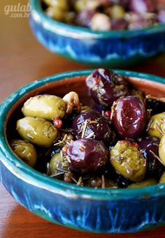 Marinated Olives - A beautiful snack flavored with garlic, lemon, fennel, rosemary and thyme.