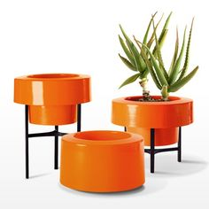 The very cool form of the Pod Version 1.0 Half Skirt Planter gives a brief nod to the standard plant pot.