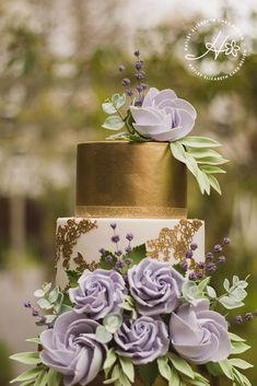 Gold and purple wedding cake, luxury wedding cake, elegant wedding cake, Hayley … Purple And Gold Wedding, Purple Wedding Cakes, Lilac Wedding, Cool Wedding Cakes, Elegant Wedding Cakes, Beautiful Wedding Cakes, Gorgeous Cakes, Wedding Cake Designs, Wedding Cupcakes