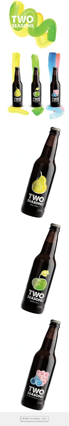 Two Seasons Cider Designed by: Kat Stevens, Australia curated by Packaging Diva PD. Simple yet great illustrations on the packaging.