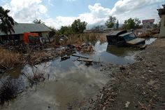 Impact 3: Due to its location, Indonesia is very Tsunami prone. This photo shows the effect of a tsumanmi