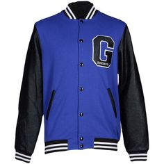 Gaëlle Bonheur Jacket ($100) ❤ liked on Polyvore featuring men's fashion, men's clothing, men's outerwear, men's jackets, dark blue and mens bomber jacket
