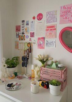 Pastel Room Decor, Cute Room Decor, Teen Room Decor, Room Design Bedroom, Room Ideas Bedroom, Bedroom Decor, Bedroom Inspo, Pinterest Room Decor, Cute Room Ideas