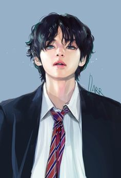 fan art Credits to the a - art Fanart Bts, Taehyung Fanart, V Taehyung, Bts Jungkook, Bts Chibi, Bts Art, Bts Fan Art, Bts Anime, V Bts Wallpaper
