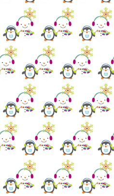 Snowmen on White fabric by graphicglee on Spoonflower - custom fabric