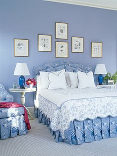 Blue Bedroom - Clean and Simple.