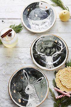Moonlit Forest Dessert Plate