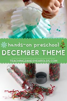 Looking for hands-on preschool December themes? This resource is filled with ideas and free printables to help you plan the entire month. Can be adapted for toddlers, too! #Christmas #december #holidays #gingerbread #jinglebells #themes #curriculum #lessonplans #preschool #toddlers #teachers #classroom #printables #homeschool #age2 #age3 Christmas Activities For Toddlers, Circle Time Activities, Winter Crafts For Kids, Preschool Christmas, Playdough Activities, Preschool Learning Activities, Preschool Activities, Teaching Kindergarten, Preschool Art