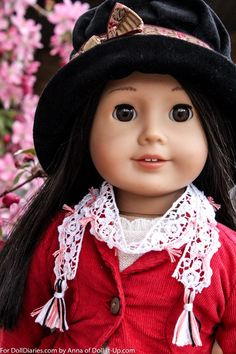 Make a simple lace scarf for American Girl Dolls